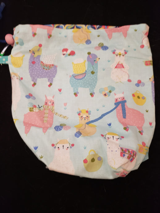 Alpacas with Hats Project Bag