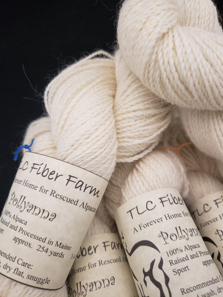 Pollyanna - Natural alpaca yarn