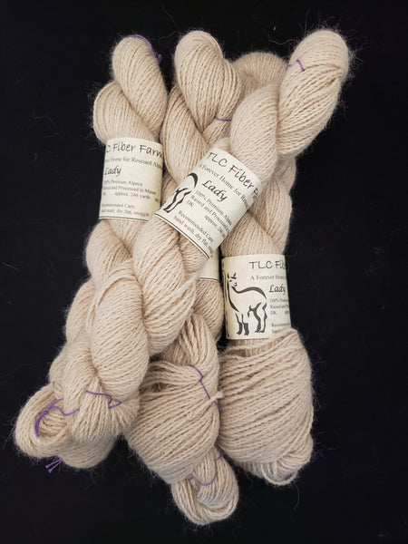 Lady - Natural alpaca yarn