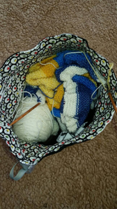 Knitting Needles Project Bag