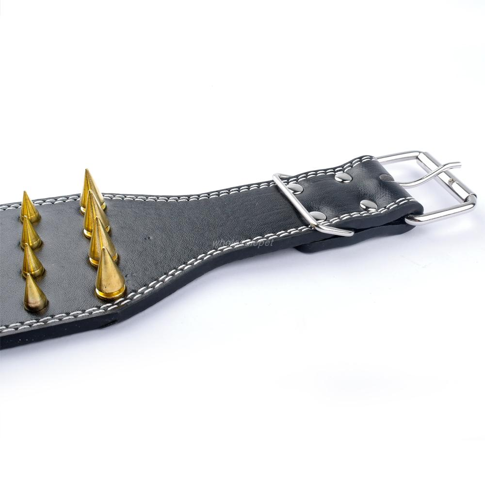 David's Mall-Pet Spikes Studded Leather Pet Dog Collar