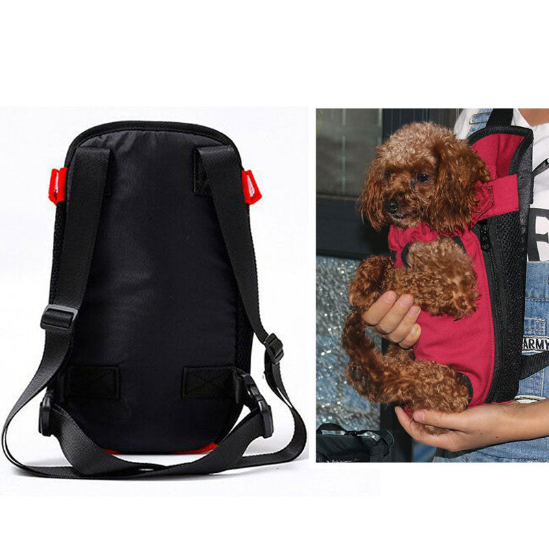 Fashion Dog Carriers Red Travel Breathable Soft Pet Dog Backpack Outdoor Puppy S M L XL