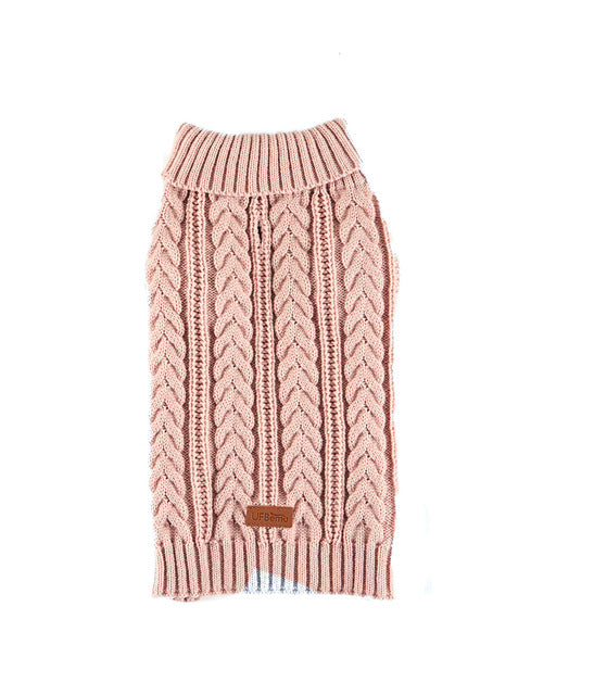 UFBemo Knitted Cable Dog Sweater Dachshund