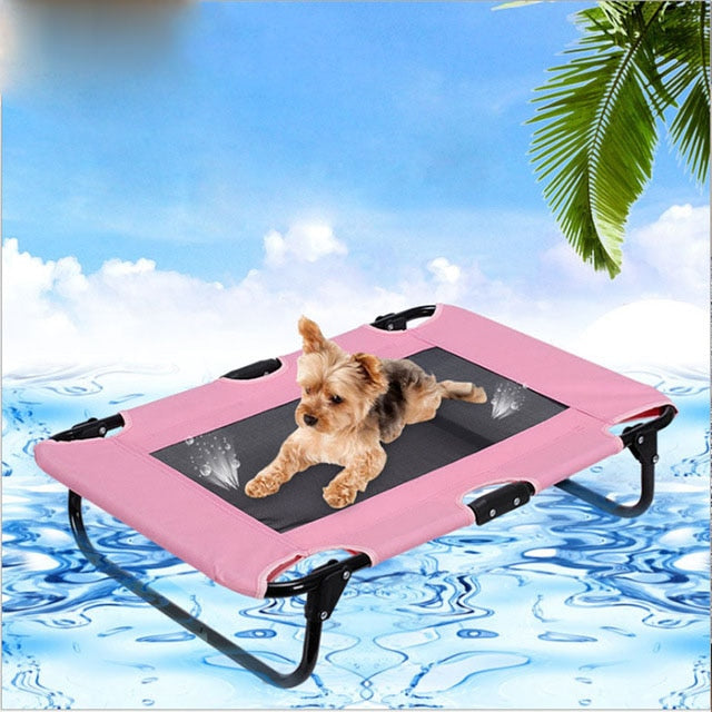H-a-p-p-y- Life Pet Summer Oxford Outdoor Dog Bed Breathable