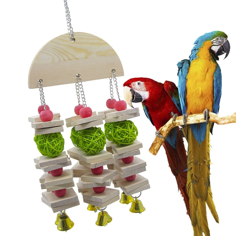 Bird Chewing Toy Large Medium Parrot Cage Bite Toys African Grey Macaws