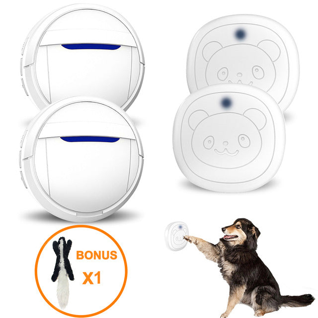 First Day Dog Housebreaking Training Tool Multifunction Dog Doorbell Wireless Sensor