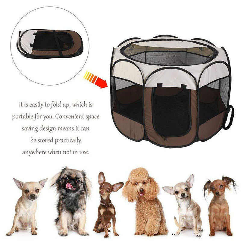 Dog Tent Portable House Breathable Outdoor Kennels Fences Pet Cats