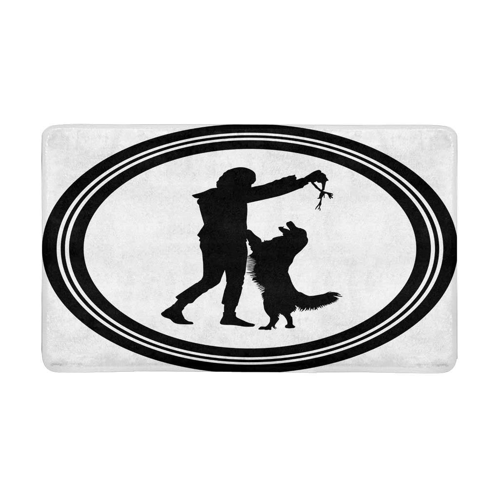 Dog Silhouette Front Door Mat  Welcome Doormat Home, Indoor, Entrance, Kitchen, Patio