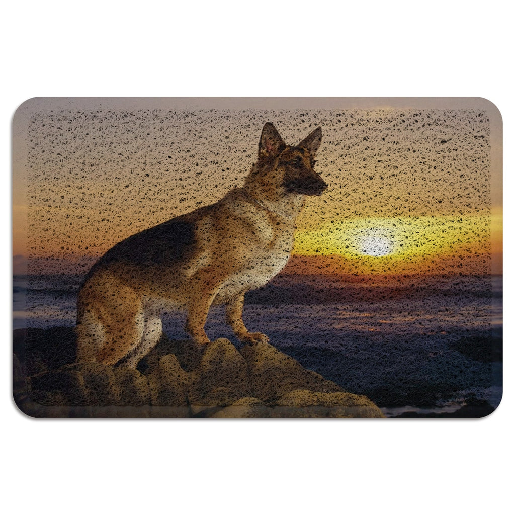 Dog Sunrise Beach Kitchen Rugs Mats Outdoor Rugs For Patios Boot Shoes Scraper
