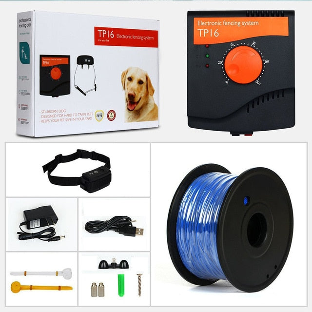 WODONDOG TP16 Pet Dog Electric Fence System Rechargeable Waterproof Shock Adjustable