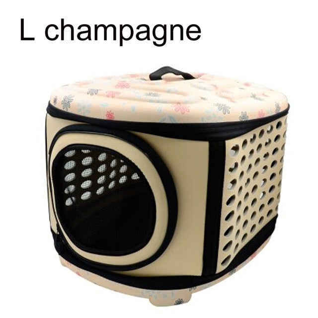 Pet Carrier For Dogs Cat Folding Cage Collapsible Crate Handbag Plastic Carrying