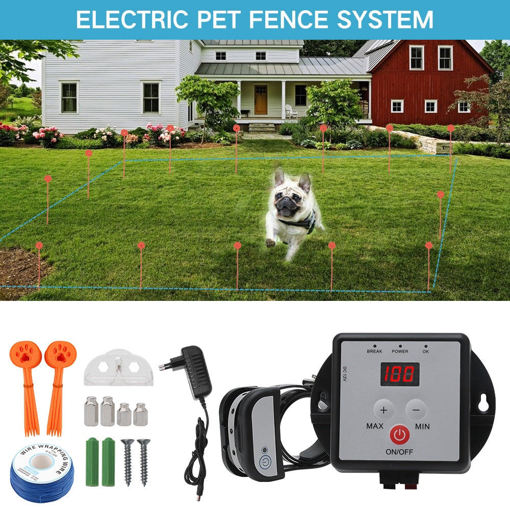 BORUIT Boutique Underground Electric Dog Fence Waterproof Rechargeable