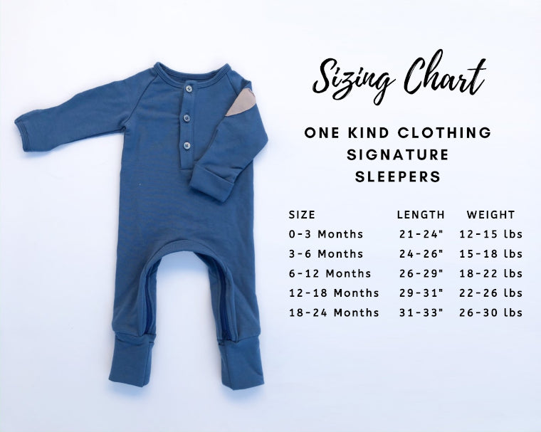 kids clothing size chart