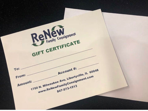 $100 ReNew Gift Card for Use In Store