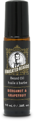 Bergamot & Grapefruit 10ml Roller Beard Oil | Educated Beards