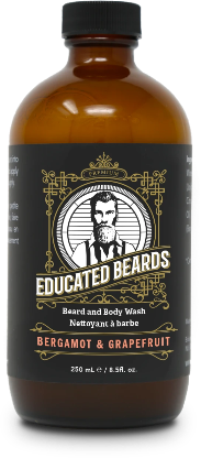 Bergamot & Grapefruit 250ml Beard Wash | Educated Beards
