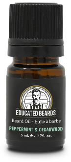 Peppermint & Cedarwood 5ml Beard Oil | Educated Beards