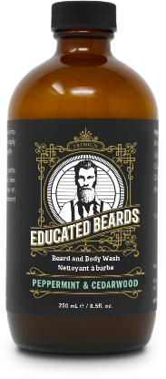 Peppermint & Cedarwood 250ml Beard Wash | Educated Beards