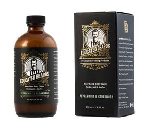 Peppermint & Cedarwood beard and body wash 250ml bottle