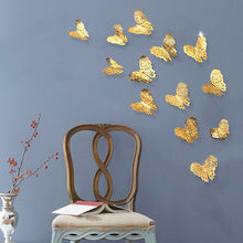 Load image into Gallery viewer, 12pcs 3d Butterfly Wall Decor Cute Butterflies Wall Stickers Art Decals Home TV Background Wall Decoration Stickers