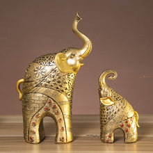 Load image into Gallery viewer, Resin gold elephant