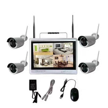 Load image into Gallery viewer, 4ch 1080P 12LCD Screen Monitor Wireless nvr kit Security system Wifi Ip Kit