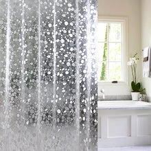 Load image into Gallery viewer, 3D Waterproof PVC Shower Curtains Bathroom Curtains With Hooks Transparent White Clear Bathroom Curtain Luxury Bath Curtains D35