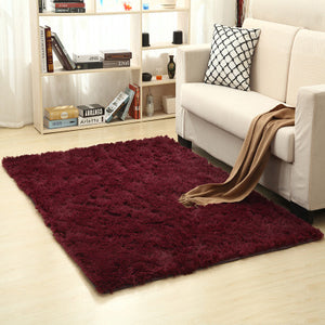 Solid Rugs Pink Puple Carpet Thicker Bathroom Non-slip Mat Area rug for living room Soft Child Bedroom Mat Vloerkleed