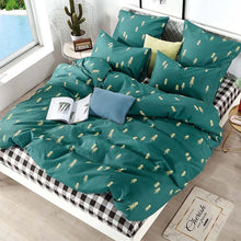 Load image into Gallery viewer, Alanna Printed Solid bedding sets  Home Bedding Set 4-7pcs High Quality Lovely Pattern with Star tree flower