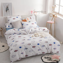 Load image into Gallery viewer, Alanna fashion bedding set Pure cotton A/B double-sided pattern Simplicity Bed sheet, quilt cover pillowcase