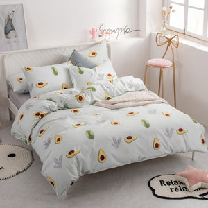 Alanna fashion bedding set Pure cotton A/B double-sided pattern Simplicity Bed sheet, quilt cover pillowcase