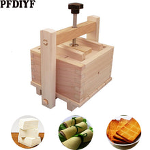 Load image into Gallery viewer, DIY Wooden Tofu Press Mould Set Homemade Cheese Tofu Mold Soybean Curd Tofu Making Mold Kitchen Accessories Cooking Tool