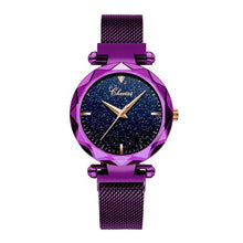 Load image into Gallery viewer, Fashion Chenxi Top Brand Luxury Ladies Quarts Women Watch Purple Wrist New Starry Sky Dial Clock Relogio Feminino Reloj Mujer