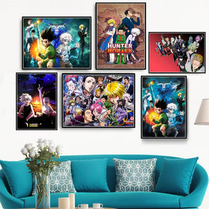 HD Print Painting Home Decor Hunter X Hunter Classic Japanese Anime Canvas Poster Pictures Modern for Living Room Frame Wall Art