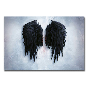 Modern Angel Wings Feather Wall Art Canvas Prints Paintings On The Wall Picture For Living Room Poster And Prints No Frame