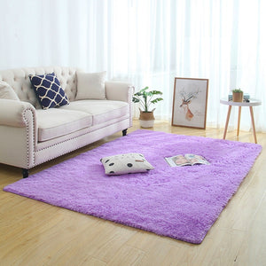 Modern Super Soft Rectangle Fluffy Rugs Anti-Skid Shaggy Area Rugs Bathroom/Bedroom carpets Home Deco