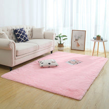 Load image into Gallery viewer, Modern Super Soft Rectangle Fluffy Rugs Anti-Skid Shaggy Area Rugs Bathroom/Bedroom carpets Home Deco