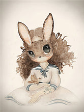 Load image into Gallery viewer, Nordic Lovely Sweet Home Decor Nordic Canvas Painting Wall Art Poster Rabbit Girls Boys Picture Cartoon Poster for Kid Bedroom