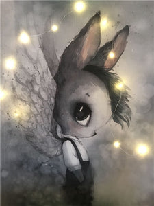Nordic Lovely Sweet Home Decor Nordic Canvas Painting Wall Art Poster Rabbit Girls Boys Picture Cartoon Poster for Kid Bedroom