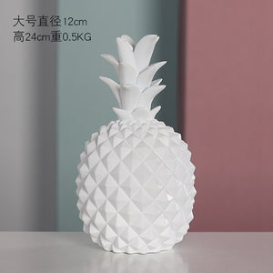 Nordic Modern Home Decor Pineapple Ornament Synthetic Resin Craft Window Desktop  home decoracion  Europe  miniature figurines