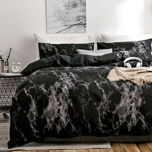 OLOEY 2/3pcs bedding set printed marble bed sets white black Duvet Cover European size King Queen Quilt Cover Comforter Cover