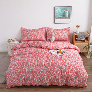 Pink Plant flowers duvet cover Pillowcase 3pcs 220x240 /200x200 /175x220,single double queen king size,quilt covers ,bedding set
