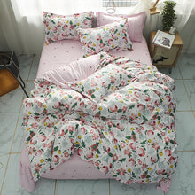 Load image into Gallery viewer, Pink Plant flowers duvet cover Pillowcase 3pcs 220x240 /200x200 /175x220,single double queen king size,quilt covers ,bedding set