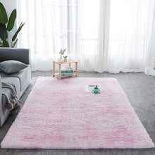 Load image into Gallery viewer, RULDGEE Shaggy Tie Dye Carpet Printed Plush Floor Fluffy Mats Kids Room Faux Fur Area Rug Living Room Mats Silky Rugs