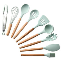 Load image into Gallery viewer, Silicone Kitchen Accessories Cooking Utensils Tools Set Non-stick Spatula Shovel Kitchenware Cookware Kitchen Gadgets Kit Spoon