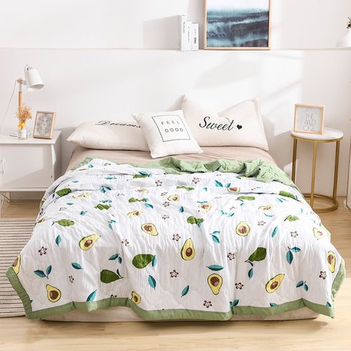 Solid Warm Bedspread Macaron Soft Comfortable Quilts Bed Quilt Comforter Washable Quilted Adults Bedding Duvet Summer Quilt