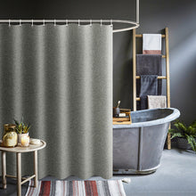 Load image into Gallery viewer, Thickened Imitation Linen Shower Curtains Solid Hotel High Quality Waterproof Bathroom Curtain for Hotel & Home