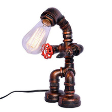Load image into Gallery viewer, Retro Industrial Wind Desk Light Iron Pipe Table Lamp For Study Room / Office / Indoor Metal 220V