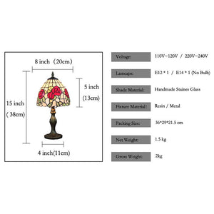 Tiffany Ambient Lamps / Decorative Table Lamp For Study Room / Office / Shops / Cafes Resin 110-120V / 220-240V