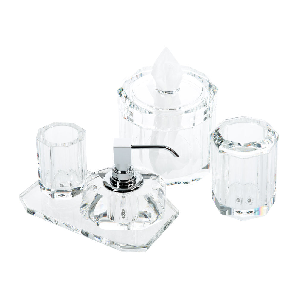 Kristall Bathroom Accessory Set - Crystal Clear